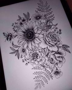 Dream Tattoos, Up Tattoos, Future Tattoos, Body Art Tattoos, Small Tattoos, Sleeve Tattoos, Tattoos For Women, Tatoos, Floral Tattoo Design