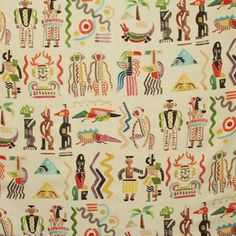 Kinta Cream by Clarence House Pattern Texture, Interior Wallpaper, Wallpaper Ideas, African Symbols, Clarence House, Contemporary Fabric, Quirky Home Decor, Home Decor Fabric, Fabric Crafts