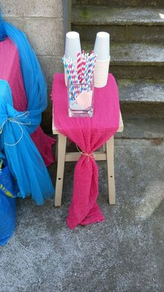 Pink and Blue decor ideas for a gender reveal party Reveal Parties, Gender Reveal, Parenting, Party Ideas, Decor Ideas, Joy, Pink, Blue, Glee