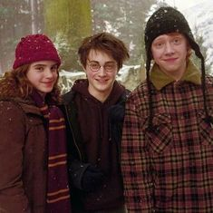 Harry Potter Tumblr, Harry Potter Hermione, Harry James Potter, Ginny Weasley, Harry Potter Trio, Posters Harry Potter, Harry Potter Navidad, Mundo Harry Potter, Harry Potter Pictures