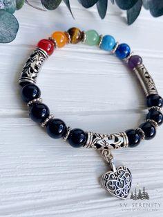 Handmade Gemstone Jewelry by S.V. Serenity on Etsy Gemstone Jewelry, Unique Jewelry, Pandora Charms, Serenity, Beaded Bracelets, Gemstones, Trending Outfits, Handmade Gifts, Etsy