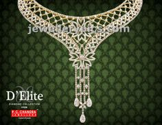 D'Elite diamond necklaces by PC Chandra jewellers - Latest Jewellery Designs