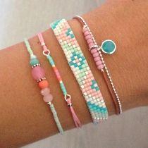 Beads bracelets - Mint15