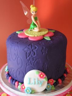 Tinkerbell cake - like this for top & cupcakes around or down