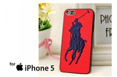 Polo Ralph Lauren Original Logo in Red Case for iPhone 4/4S/5/5S/5C,Samsung Galaxy S2/S3/S4