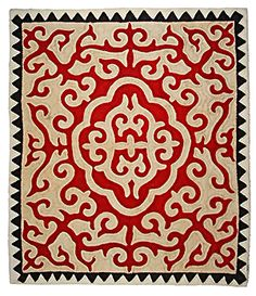 Fabulous collection of felt rugs from Kyrgyzstan with incredibly vibrant colors. Visit their site!