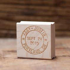 So perfect for invites! Custom Postmark Wedding Date Stamp from @royalsteamline