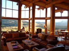 Great Room Looking Out - Residence in Near Telluride, CO OMG!!! Now this is gorgeous. You feel the space you're in surrounded by these beautiful mountains. Stone Mountain, Mountain Homes, Interior Ideas, Architect Design, Luxury Real Estate, Log Homes, Mountains, Beautiful Homes, Luxury Homes