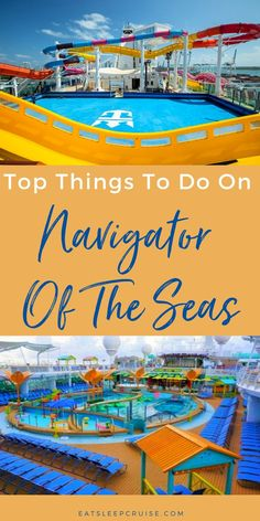 Are you planning a cruise vacation on Royal Caribbean's Navigator of the Seas? If so, you'll want to check out our post with tips to make the most of your time on board the ship. From activities like laser tag and water parks to specialty dining and entertainment, you'll find something for everyone. Or maybe you just want to relax by the pool but don't forget to plan your Perfect Day at CocoCay. Our post will show you how to do as much, or as little as you want. Cruise Checklist, Cruise Tips, Cruise Vacation, Royal Caribbean International, Royal Caribbean Cruise, Liberty Of The Seas, Navigator Of The Seas, Cruise Reviews, Things To Do