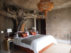 Amber Suite at Sabi Sabi's Earth Lodge in South Africa - wow!  www.adventuresinafrica.com