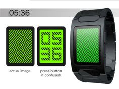 Optical Illusion LED Watch Hides the Time From You | Walyou