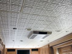 Glue-up ceiling tiles - look like tin.