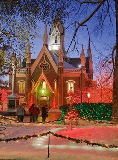 Christmas in Temple Square, Salt Lake City, Utah