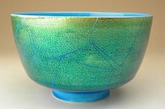 Ono Hakuko - Chawan, Japanese pottery, teacup or bowl. Stupendous glazing.