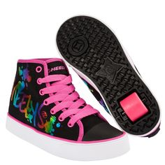 Heelys Veloz - Black/Rainbow Metallic Print | Heelys - Entire Range | Heelys | Cheap Skate Shoes For Sale | Skatehut