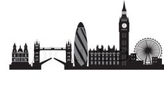 Stock vector of 'silhouette, skyline, london'