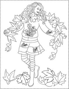 Nicole's Free Coloring Pages: Cele 4 anotimpuri