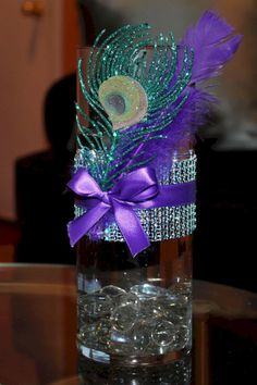 best ideas about peacock Wedding party 38 – OOSILE The Effective Pictures We Offer You About wedding parties line up A quality picture can tell you many things. You can find the most beautiful picture Peacock Centerpieces, Bling Centerpiece, Peacock Decor, Peacock Theme, Peacock Wedding, Party Centerpieces, Purple Wedding, Wedding Decorations, Wedding Ideas