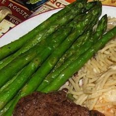 Roast asparagus with Cajun seasoning makes a yummy side dish in only 15 minutes.