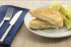 Fontina & Leek Grilled Cheese Sandwiches with Baby Romaine & Radish Salad
