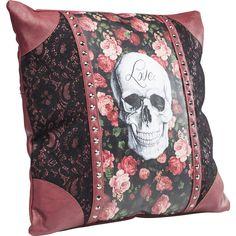 Kissen Rose Skull 45x45cm - KARE Design