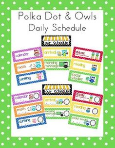 polka dot & owls daily schedule