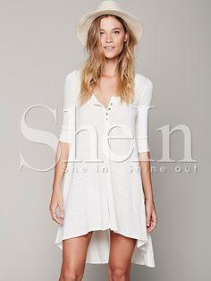 78f0b023ca6d White Long Sleeve High Low Dress 15.99 Dress Beach