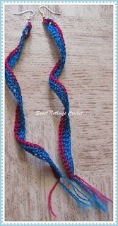Sweet Nothings Crochet: A SIMPLE LONG DANGLING EAR RING