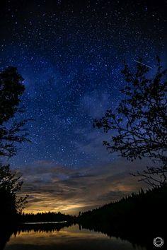 Wunderschöne, ruhige Nacht am Schlesingerteich in Bärnkopf, NÖ.  Auch ein ganz häßlicher Geist erschien!!!  :-) Portrait, Northern Lights, Celestial, Sunset, Nature, Travel, Outdoor, Photos, Night Skies
