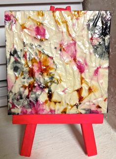 Abstract Colors on Mini Canvas with Matching by cutelittlecanvases, $12.00