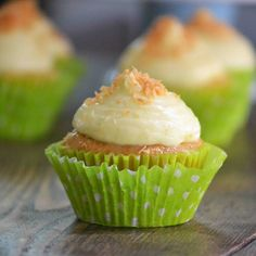 Coconut Tres Leches Cupcakes w/ Mango Lime Cream Cheese Frosting