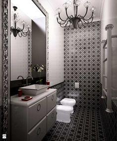 Nicolina Mountain House Moscow - Łazienka, styl art deco - zdjęcie od Shtantke Interior Design