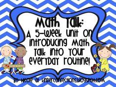 Math Talk Moves: A 5 Week Unit on Introducing Math Talk in