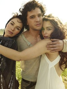 Lena Headey, Kit Harington and Emilia Clarke.