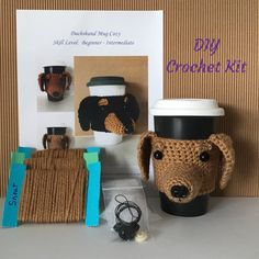 DIY Kits - Crochet Kit - Amigurumi Kit - DIY Craft Project - Crochet Dog Pattern - Gift for Crocheter - Crochet Gift - Hooked by Angel by HookedbyAngel