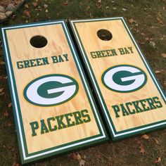Green Bay Packers custom made cornhole boards/baggo/corn hole from Great lakes Cornhole