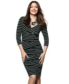If you buy just one thing this Fall, make it the Instantly Slimming Dress -- we promise you won't be sorry!  #wearwhatworks #instantlyslimming #whbm