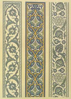 Arabian and Persian ornaments Pattern Texture, Border Pattern, Border Design, Pattern Art, 3d Prints, Textile Prints, Embroidery Patterns Free, Embroidery Designs, Art Nouveau