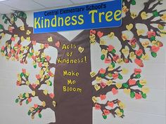 Kindness trees are a wonderful way to encourage more kindness and compassion within schools. Here are 15 great examples to get your started with yours! Central Elementary School, Elementary School Counselor, School Counseling, Elementary Schools, Classroom Tree, School Classroom, Classroom Activities, Disney Classroom, Classroom Quotes