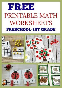 We all need extra free printable math worksheets for our youngest learners. Check out this awesome selection for preschool through grade! Free Printable Math Worksheets, Preschool Worksheets, Free Printables, Preschool Printables, Kindergarten Homeschool Curriculum, Homeschool Curriculum Reviews, Preschool Education, Homeschooling Resources, Learning Resources