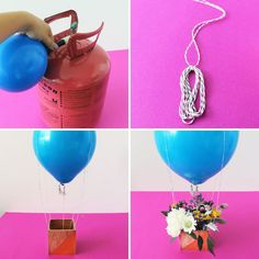 Hot Air Balloon Centerpiece via Brit + Co.