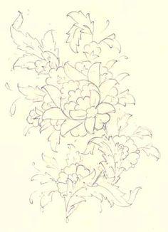 :: Prof. Dr. İlhan ÖZKEÇECİ :: Batik Pattern, Pattern Art, Amazing Drawings, Art Drawings, Art Decor, Decoration, Islamic Art Pattern, Arabesque Pattern, Persian Motifs