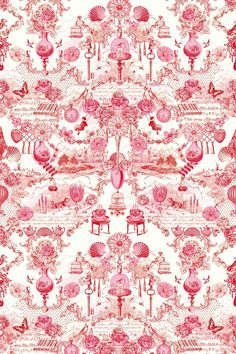 36 Best Ideas for wall paper rosa pink pip studio Fabric Wallpaper, Of Wallpaper, Parrot Wallpaper, Chinoiserie, Papel Scrapbook, Scrapbooking, Pip Studio, Fabric Shower Curtains, Paper Background