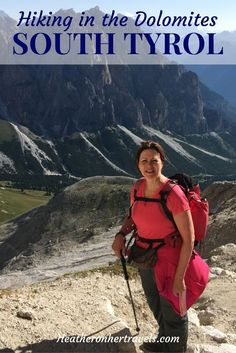 Read about hiking in the Dolomites of South Tyrol - on Day 2 we tackled a steep pass, walked through a lunar landscape and relaxed with a well earned beer as the mountains turned pink. Italy Travel Tips, New Travel, Travel Destinations, Travel List, Family Travel, Walk Around The World, Travel Around The World, Hiking Tips, Camping And Hiking