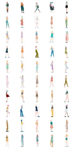 50 girls on Behance