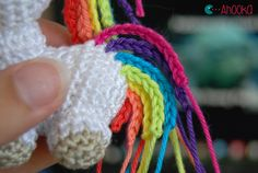 Tiny unicorn crochet amigurumi pattern by ahooka