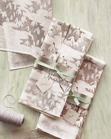 Handmade #Christmas #gift idea: Block-printed tea towels.