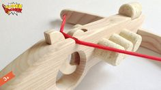 Crossbow in wood with 5 Cork / Handmade / Wooden Toys /