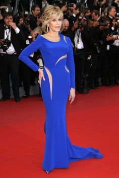 Jane Fonda, 77, in Versace