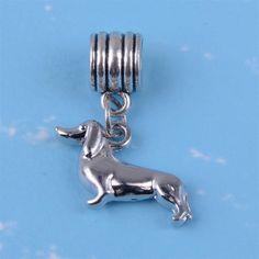 87331cc36 Dog Charms - wiener dog pandora style charm Dachshund Dog, Dog Paws, Best  Dogs